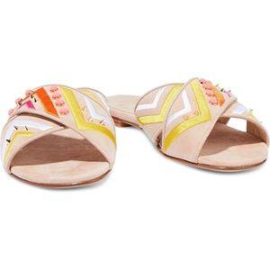 Stuart Weitzman Buttoncandy Slipper Sandal Flats